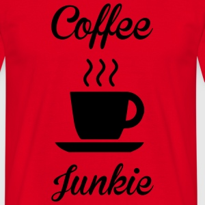 Coffee Junkie T-shirts - Herre-T-shirt