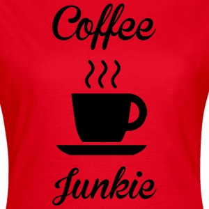 Coffee Junkie T-skjorter - T-skjorte for kvinner