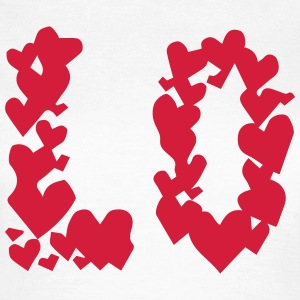 LOVE couple pair partner Heart Valentines Day gift Magliette - Maglietta da donna