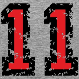 The Number Eleven - No. 11 (two-color) red T-Shirts - Men's Premium T-Shirt