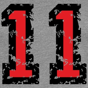 The Number Eleven - No. 11 (two-color) red T-Shirts - Women's Premium T-Shirt