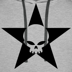 star skull 02 Sweat-shirts - Sweat-shirt à capuche Premium pour hommes