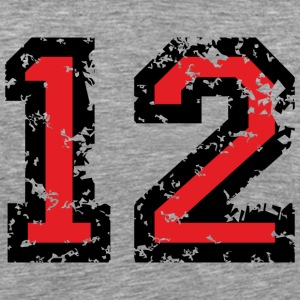 The Number Twelve - No. 12 (two-color) red T-Shirts - Men's Premium T-Shirt