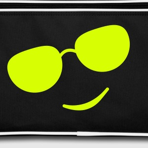 sunglasses smile black Tassen & rugzakken - Retro-tas