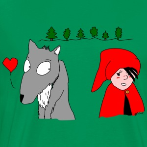 in love with little red riding hood T-Shirts - Men's Premium T-Shirt