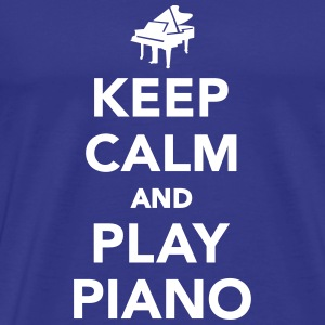 Keep calm and play piano T-Shirts - Männer Premium T-Shirt