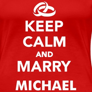 Keep calm and marry T-Shirts - Frauen Premium T-Shirt