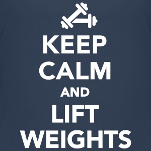 Keep calm and lift weights T-Shirts - Teenager Premium T-Shirt