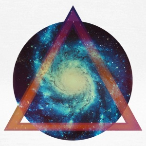 Space Galaxy - Triangular T-shirts - T-shirt dam