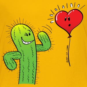 Cactus Flirting with a Heart Balloon Shirts - Kids' Premium T-Shirt