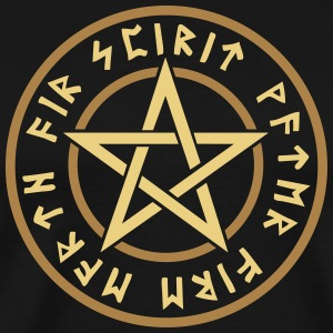 Pentagram element magic symbol runor stjärna craft T-shirts - Premium-T-shirt herr