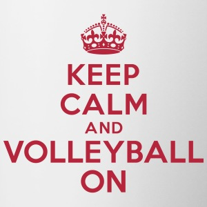 Keep calm and volleyball on crown Bouteilles et tasses - Tasse bicolore