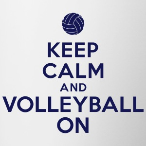 Keep calm and volleyball on Bouteilles et tasses - Tasse bicolore