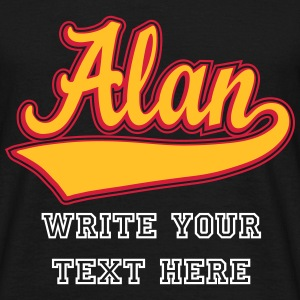 Alan - The name as a sport swash T-Shirts - Men's T-Shirt