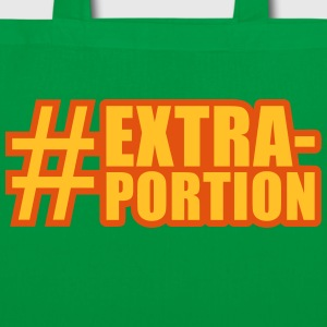 lustige Motive: extra portion Bags & backpacks - Tote Bag