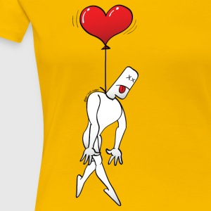 Man Hanged by a Heart Balloon T-Shirts - Women's Premium T-Shirt