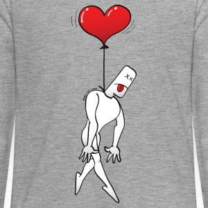 Man Hanged by a Heart Balloon Long Sleeve Shirts - Teenagers' Premium Longsleeve Shirt