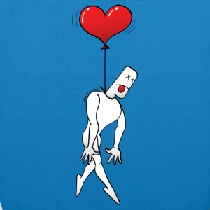 Man Hanged by a Heart Balloon Bags & backpacks - EarthPositive Tote Bag