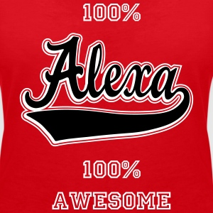 Alexa - The name as a sport swash T-Shirts - Women's V-Neck T-Shirt