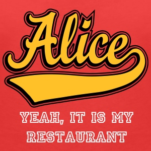 Alice - The name as a sport swash T-Shirts - Women's V-Neck T-Shirt
