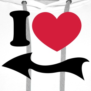 I Love Arrow Pair Partner Wedding Heart Couple Tröjor - Premiumluvtröja herr