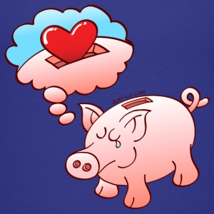 Piggy Bank Dreaming of Hearts instead of Coins Shirts - Kids' Premium T-Shirt