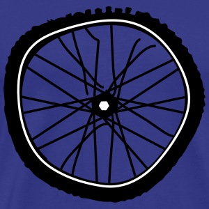 A broken bicycle tire T-Shirts - Men's Premium T-Shirt