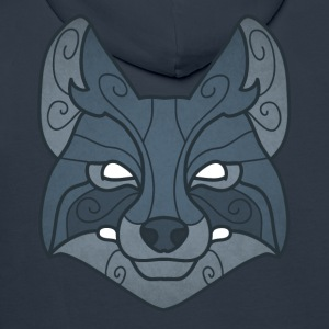 Tribal wolf mask - Men's Premium Hoodie