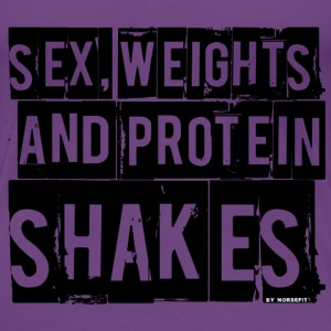 sex weigts and protein T-shirts - Dame premium T-shirt
