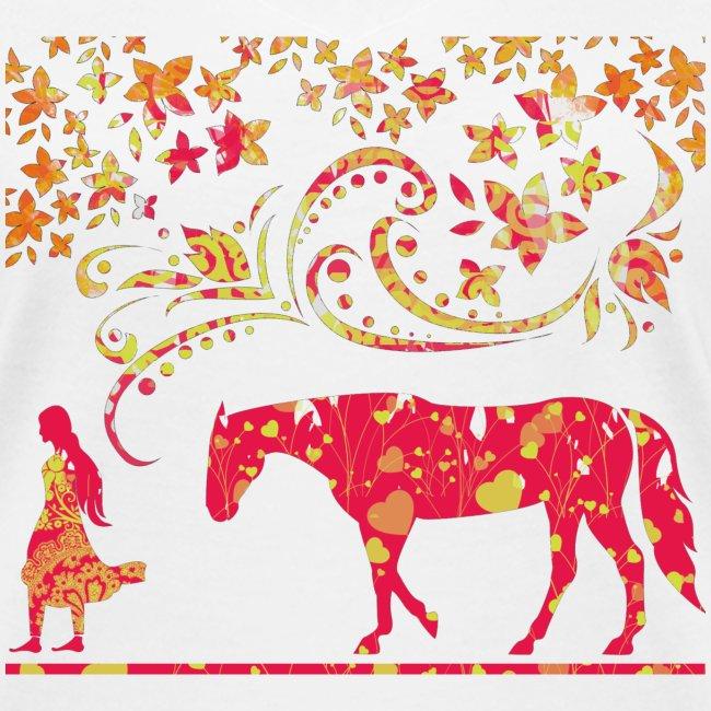 Mädchen führt Pferd