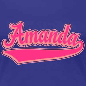 Amanda - Name as a sport swash. T-Shirts - Women's Premium T-Shirt
