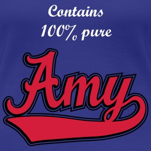 Amy - Name as a sport swash. T-Shirts - Women's Premium T-Shirt