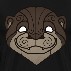 Tribal Otter mask - Men's Premium T-Shirt