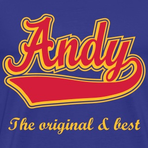 Andy - Name as a sport swash. T-Shirts - Men's Premium T-Shirt