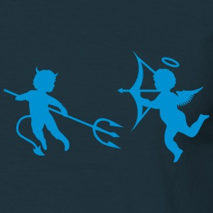 A little devil and a little angel  T-Shirts - Men's T-Shirt