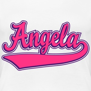 Angela - Name as a sport swash. T-Shirts - Women's Premium T-Shirt