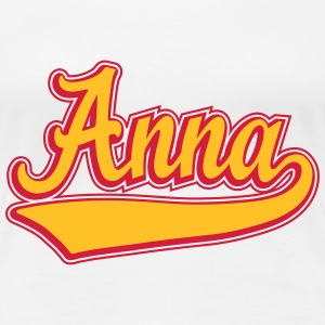 Anna - Name as a sport swash.  T-Shirts - Women's Premium T-Shirt