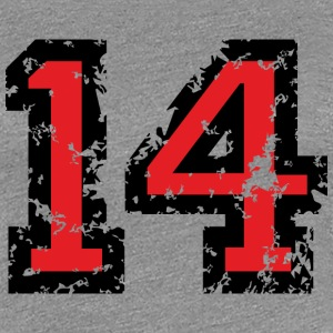 The Number Fourteen - No. 14 (two-color) red T-Shirts - Women's Premium T-Shirt