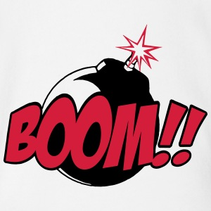 boom - comic sound Shirts - Organic Short-sleeved Baby Bodysuit