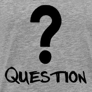 Question T-shirts - Mannen Premium T-shirt
