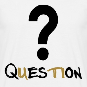 Question Gold T-shirts - Herre-T-shirt