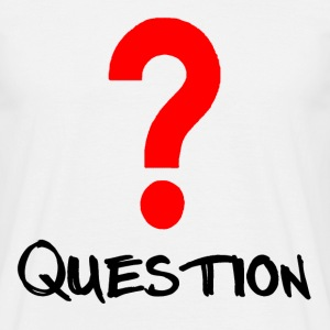 Question Red T-shirts - Mannen T-shirt