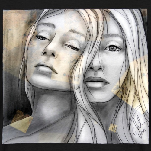 Reflection II by carographic, watercolor artist