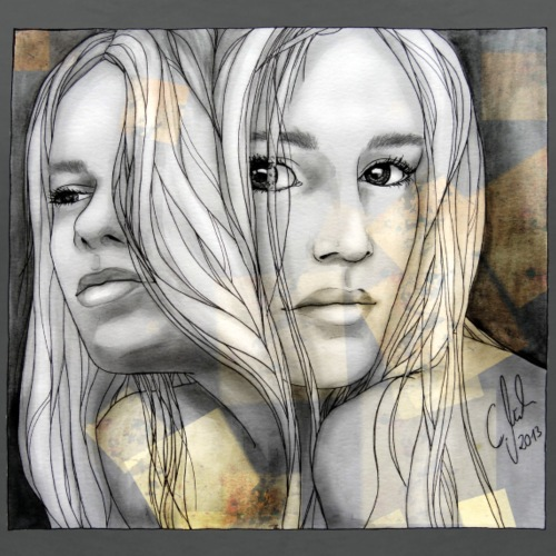 Reflection I by carographic, watercolor artist
