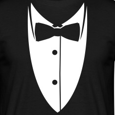 Collar with bow tie made ​​suit jacket  T-Shirts