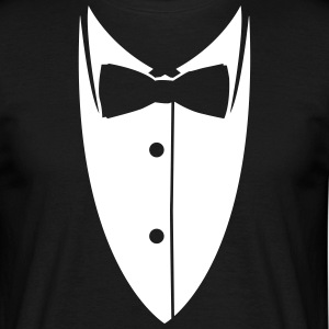 Collar with bow tie made ​​suit jacket  T-Shirts - Men's T-Shirt
