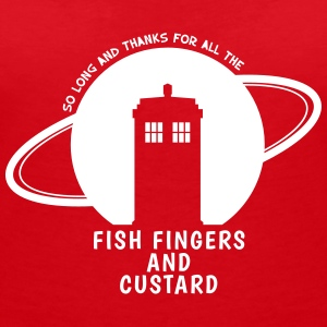 Fish Fingers and Custard - Frauen T-Shirt mit V-Ausschnitt