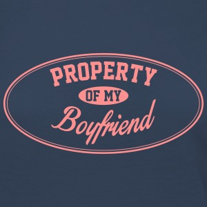PROPERTY OF MY BOYFRIEND Long Sleeve Shirts - Women's Premium Longsleeve Shirt