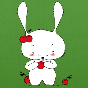 A little bunny eating cherries Bags & backpacks - EarthPositive Tote Bag
