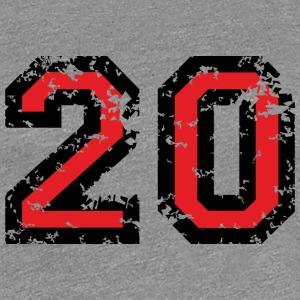 The Number Twenty - No. 20 (two-color) red T-Shirts - Women's Premium T-Shirt